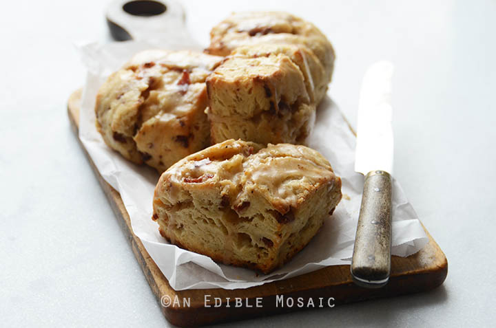 Sunday Morning Scones {aka Maple Bacon Scones with Coffee Glaze} 6