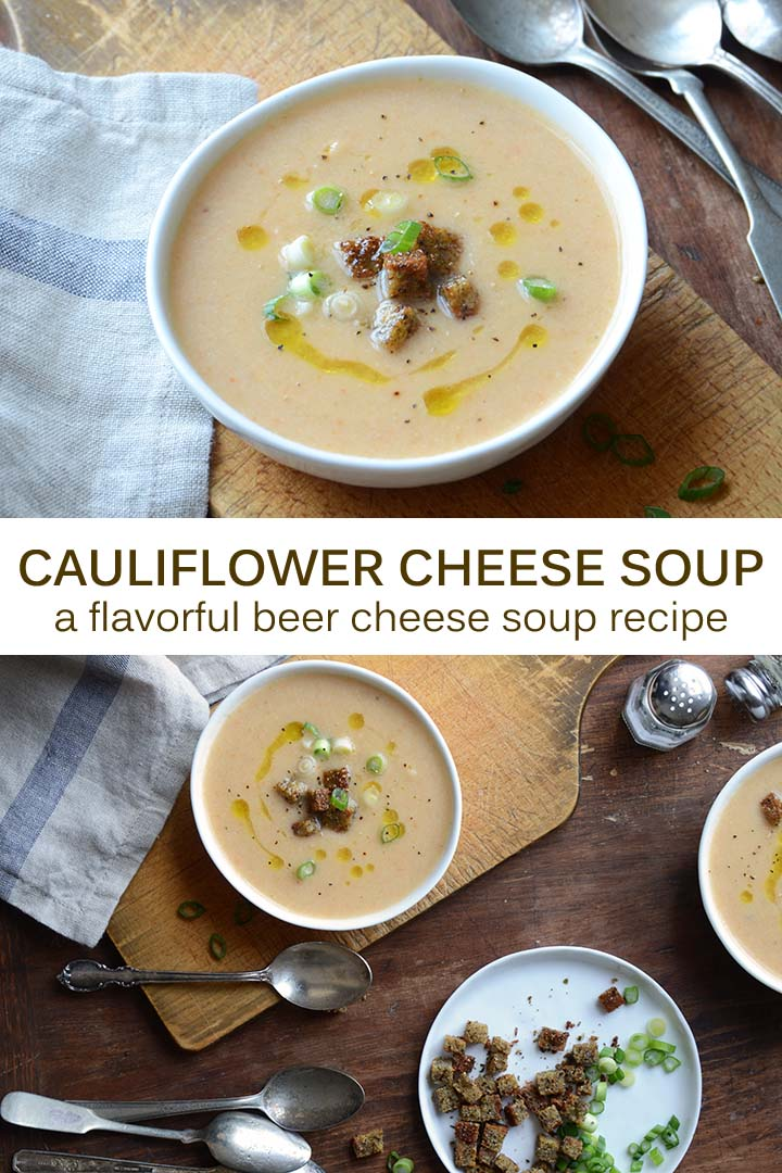 Cauliflower Cheese Soup Recipe Pin