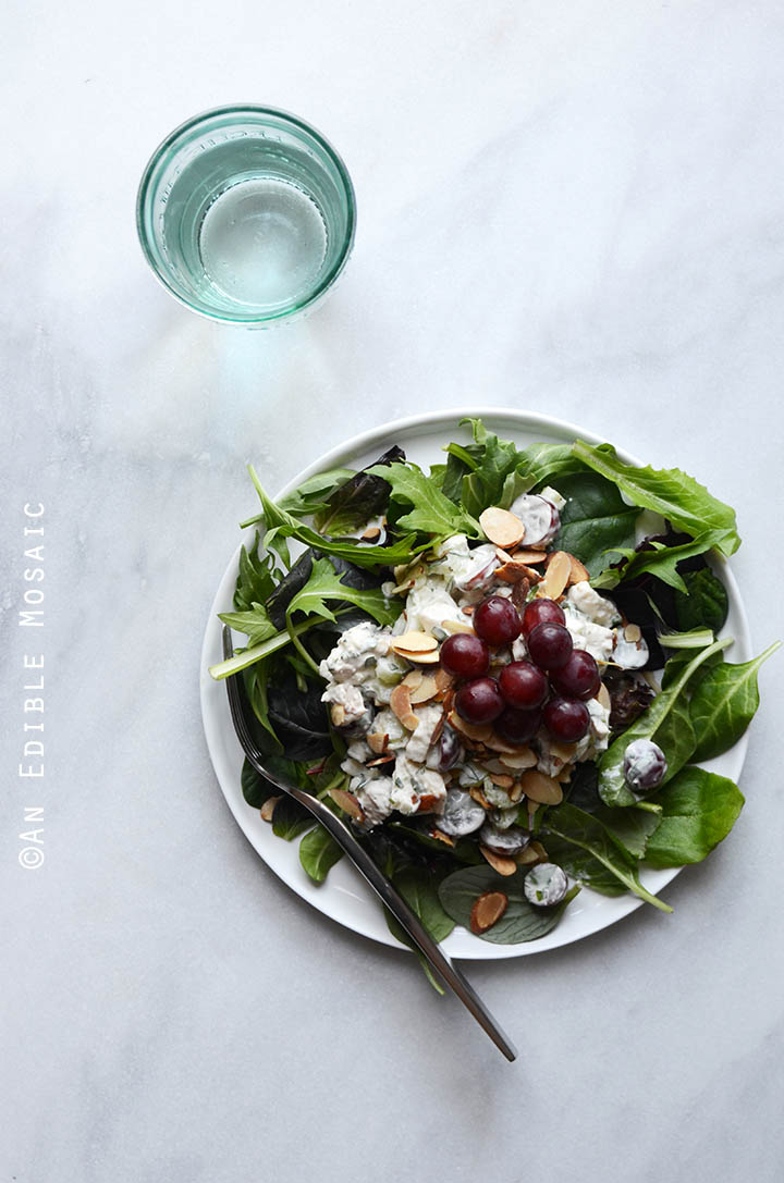Creamy Rosemary and Red Grape Chicken Salad {Paleo; Whole30-Friendly} 3