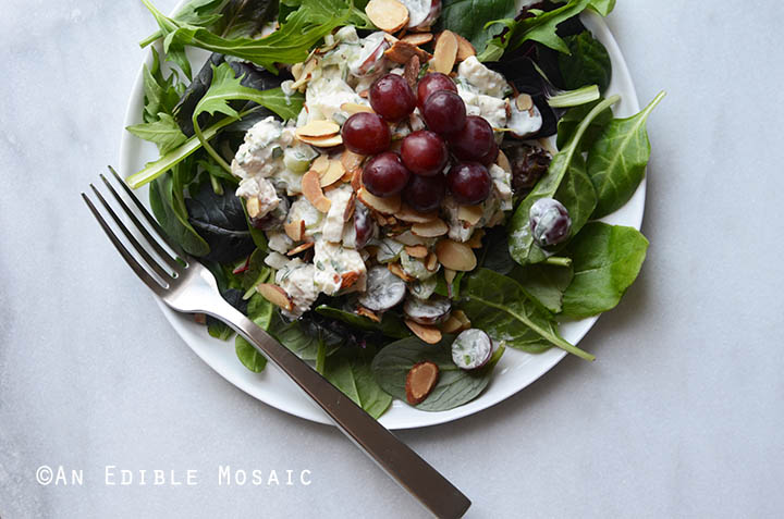 Creamy Rosemary and Red Grape Chicken Salad {Paleo; Whole30-Friendly} 4