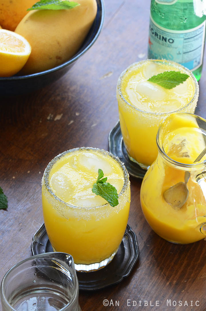 Mango Meyer Lemon Margarita Mocktails 1