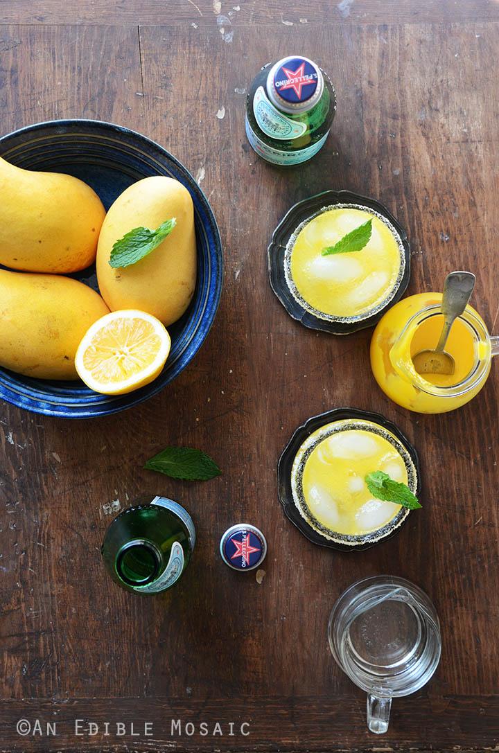 Mango Meyer Lemon Margarita Mocktails 2
