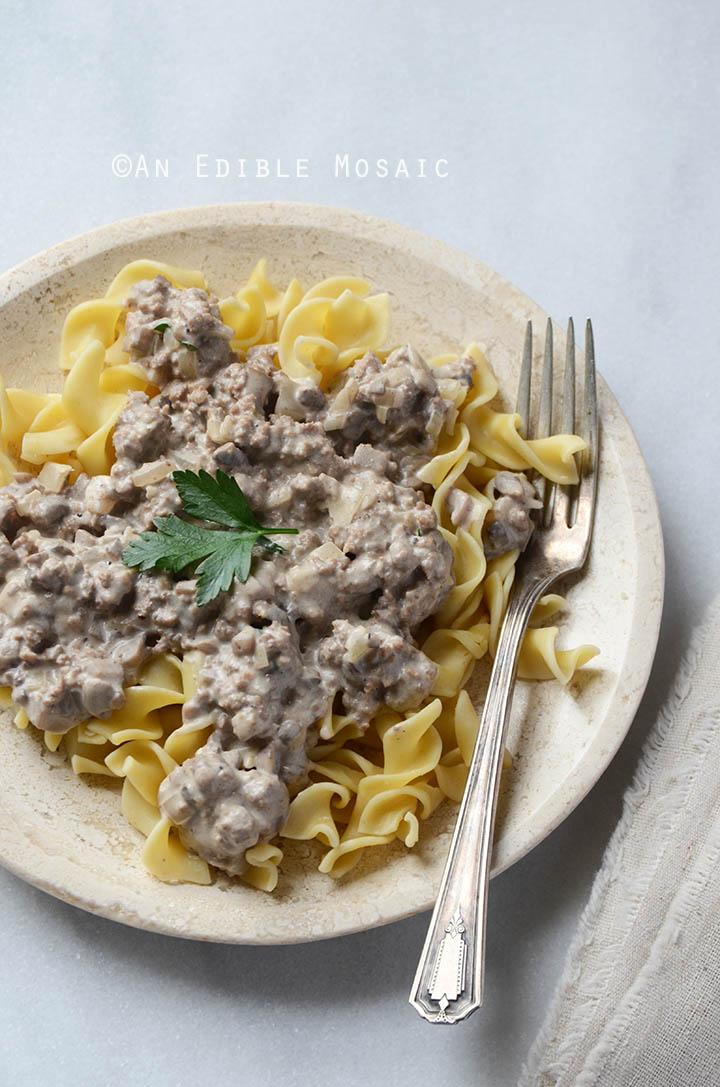 Quick Mushroom Beef Stroganoff Skillet Supper 2