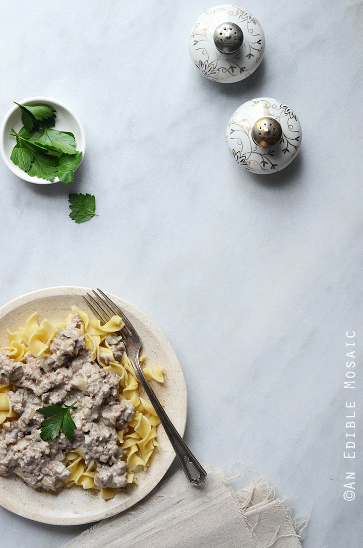 Quick Mushroom Beef Stroganoff Skillet Supper 5