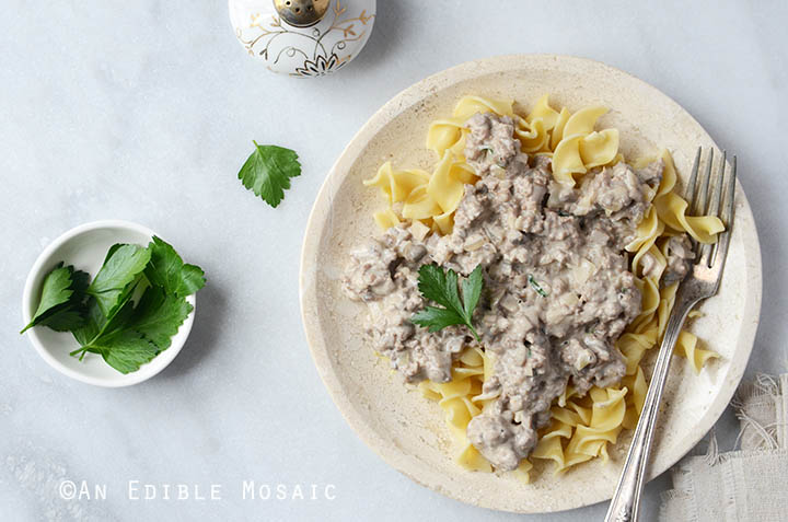 Quick Mushroom Beef Stroganoff Skillet Supper 6