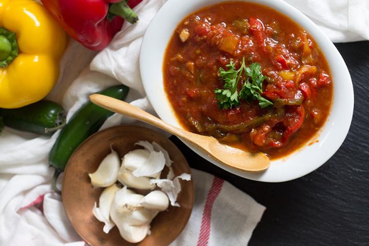 Tomato and Pepper Matboucha