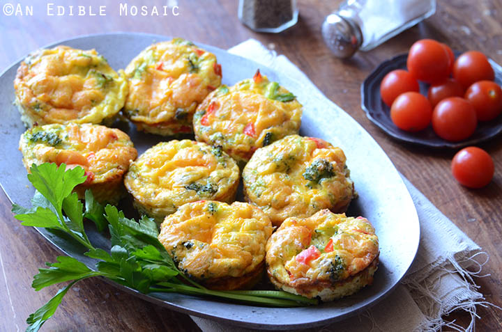 Broccoli and Red Pepper Egg Muffins {Gluten-Free; Lactose-Free} 4