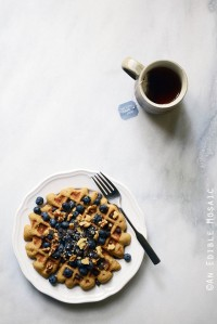 Healthy Special Occasion Birthday Cake Flavored Waffle for One {Giveaway}