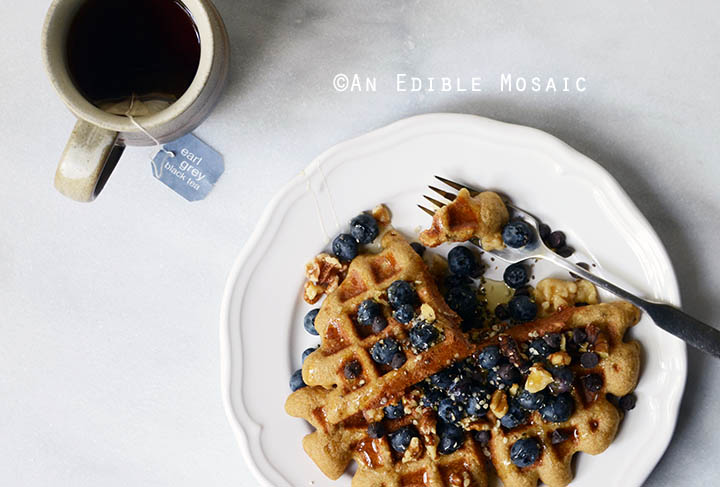 Healthy Special Occasion Birthday Cake Flavored Waffle for One {Paleo} 4