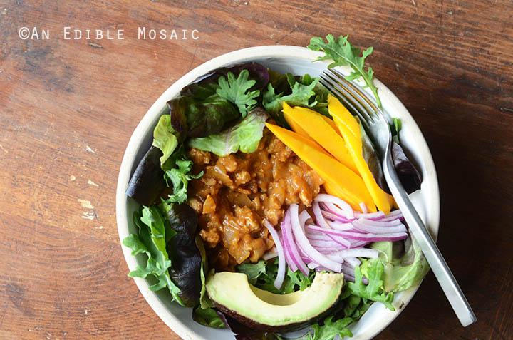 Mango Turkey Sloppy Joe Salad Bowls {Paleo} 4