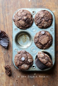 Mexican-Spiced Triple Chocolate Muffins