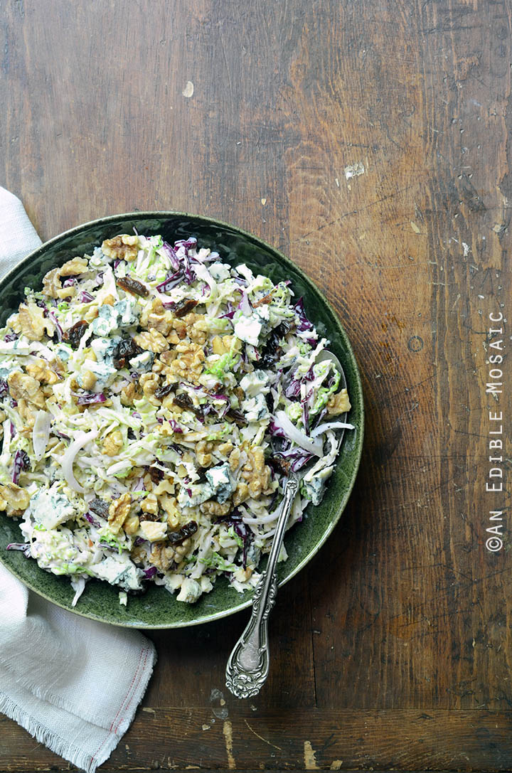 Creamy Coleslaw with Tart Cherries, Blue Cheese, and Toasted Walnuts 2