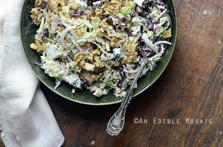 Creamy Coleslaw with Tart Cherries, Blue Cheese, and Toasted Walnuts 4