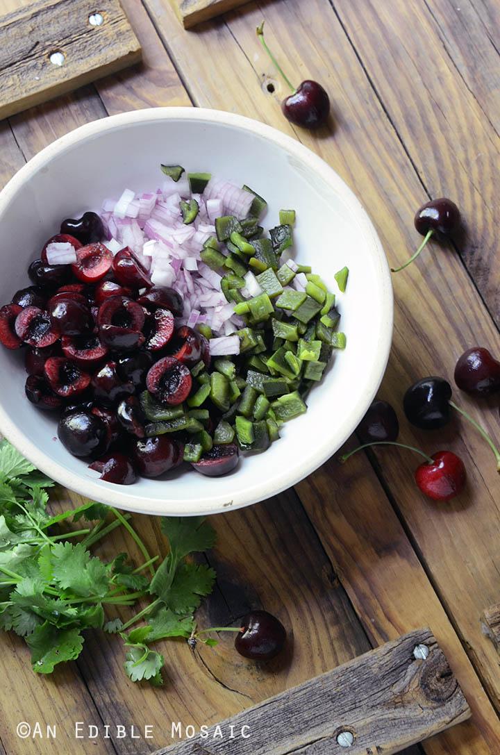 Fresh Cherry and Charred Poblano Chopped Salad 2