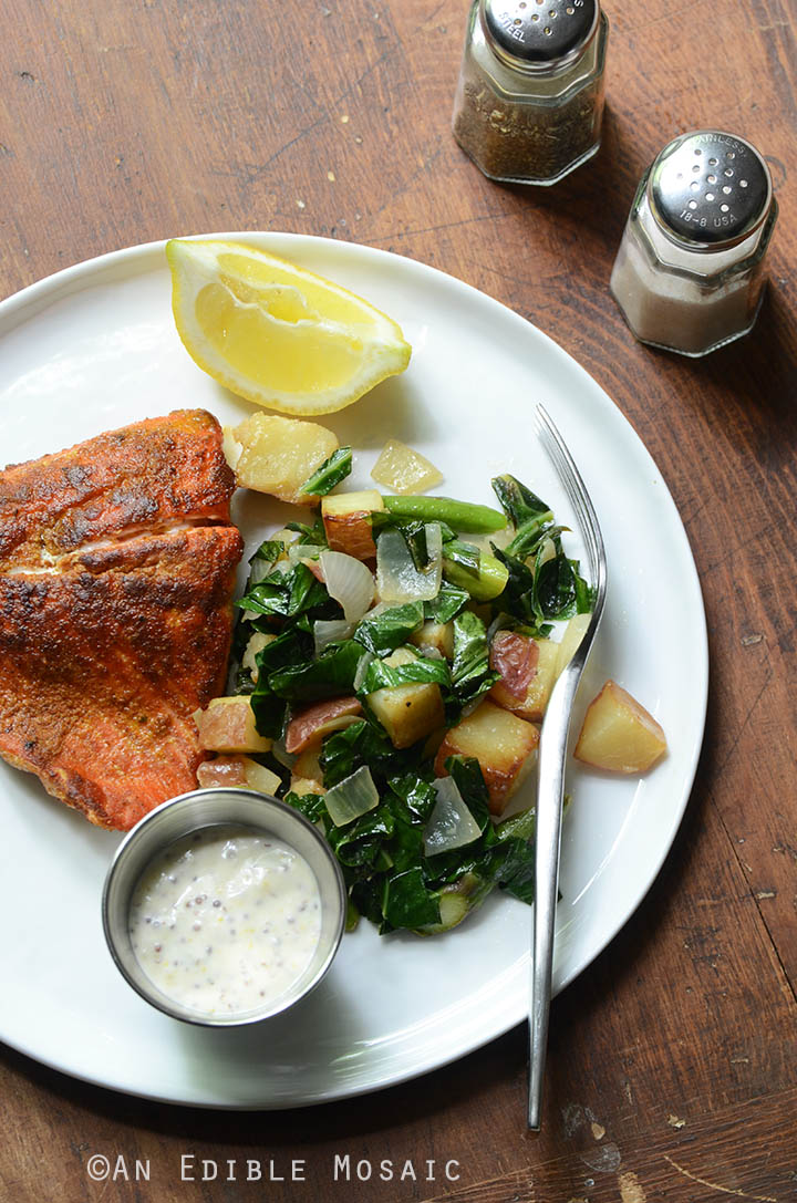 Seared Salmon and Lemon Aioli 3