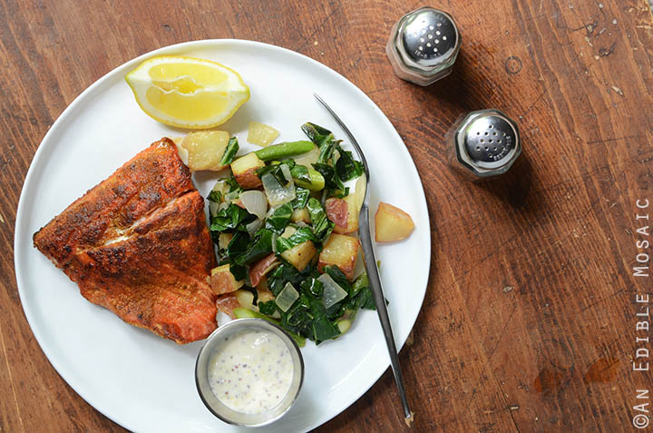 Seared Salmon and Lemon Aioli 4