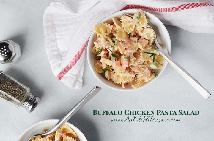Buffalo Chicken Pasta Salad Recipe with Description