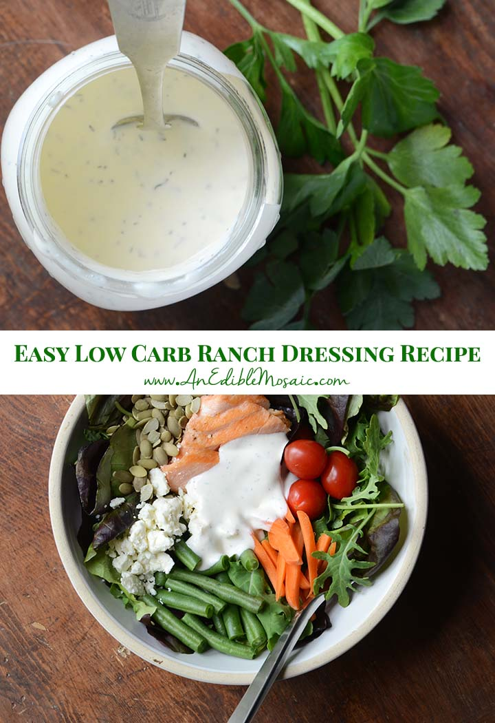 Easy Low Carb Ranch Dressing Recipe Pin