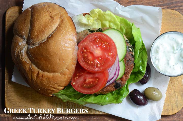 Greek Turkey Burgers with Description