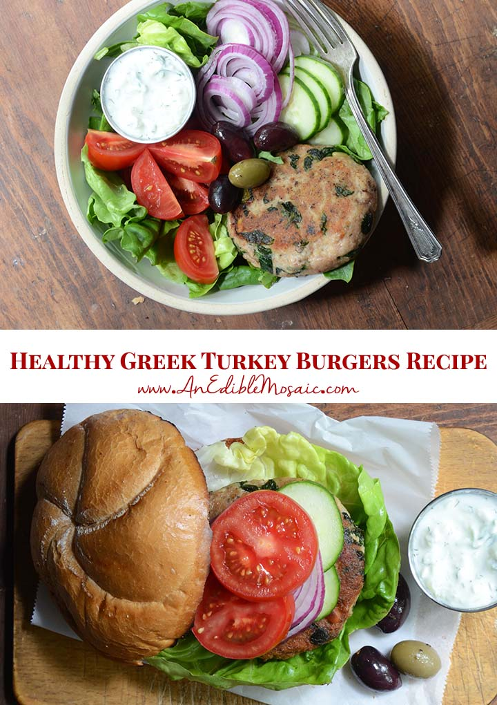 Healthy Greek Turkey Burgers Recipe