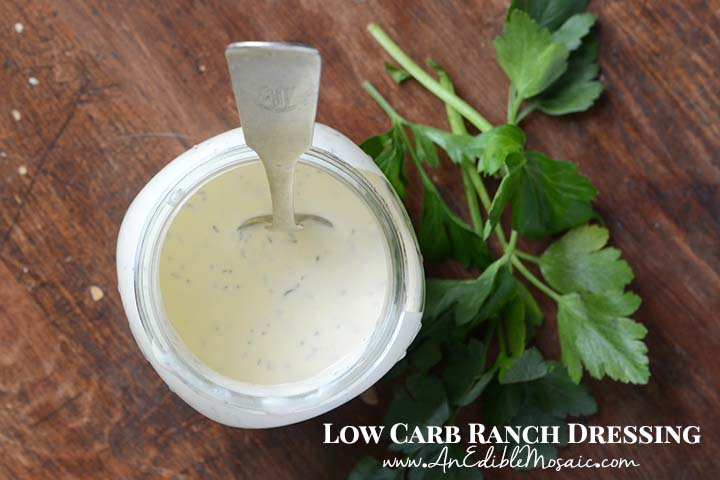 Low Carb Ranch Dressing with Description