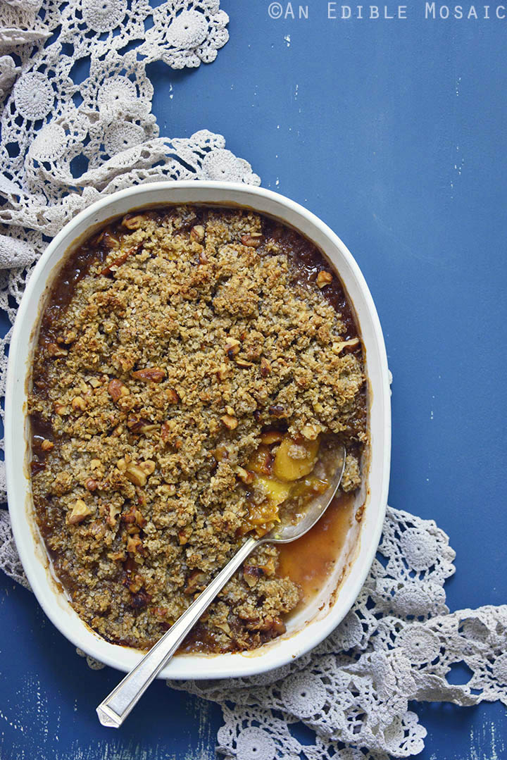 Spiced Maple Peach Oat Crisp 3