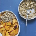Making Spiced Maple Peach Oat Crisp Uncooked