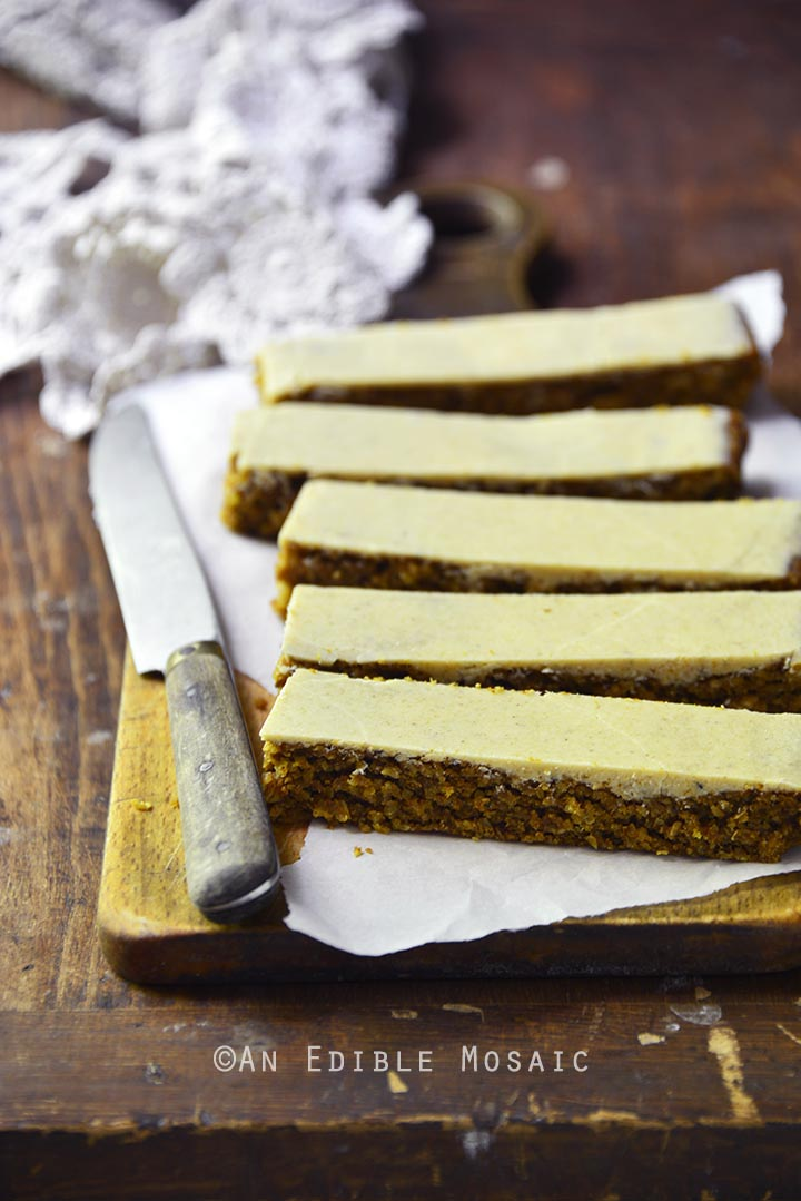 Pumpkin Spice Steel Cut Oat Bars with Pumpkin Spice White Chocolate Glaze {Vegan} 4