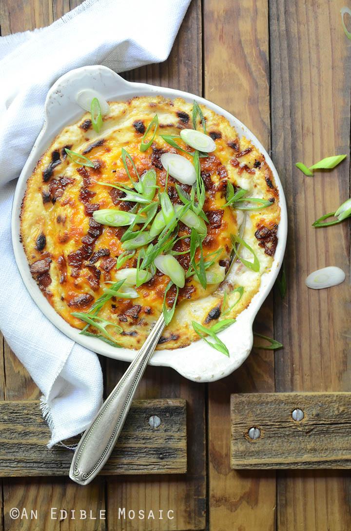 Steakhouse-Style Loaded Cheesy Cauliflower Mash 1