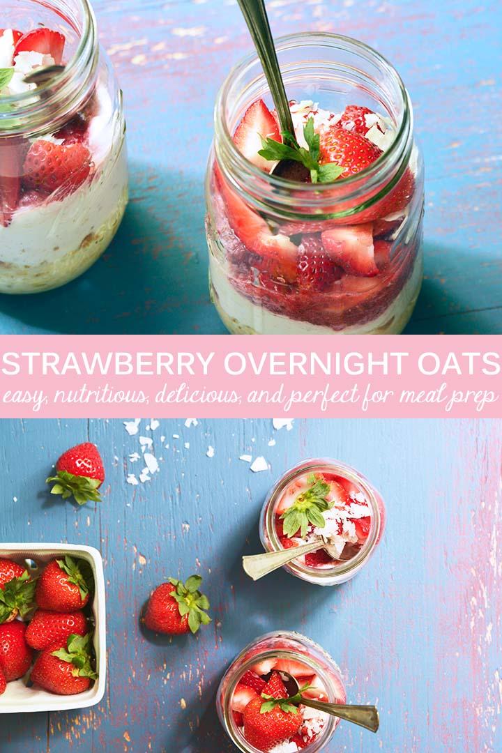 Strawberry Overnight Oats Recipe Pin