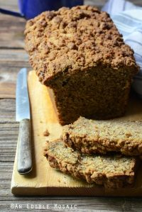 Chai-Spiced Spaghetti Squash (or Pumpkin) Crumble-Topped Loaf Cake