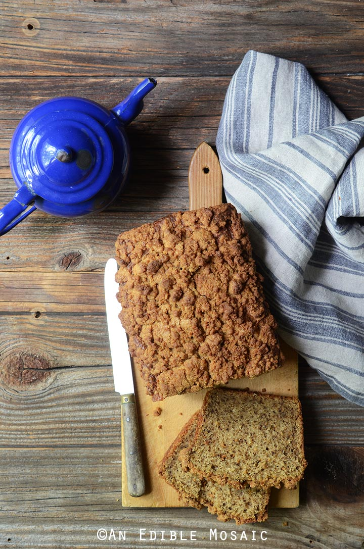 Chai-Spiced Spaghetti Squash (or Pumpkin) Crumble-Topped Loaf Cake 4