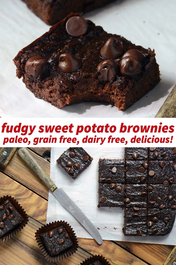 Fudgy Sweet Potato Brownies Recipe Pin