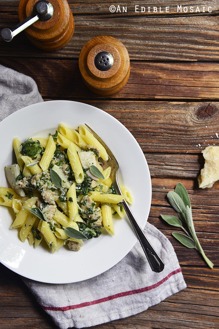 gluten-free-penne-pasta-with-chicken-sausage-sage-and-apple-cream-sauce-1