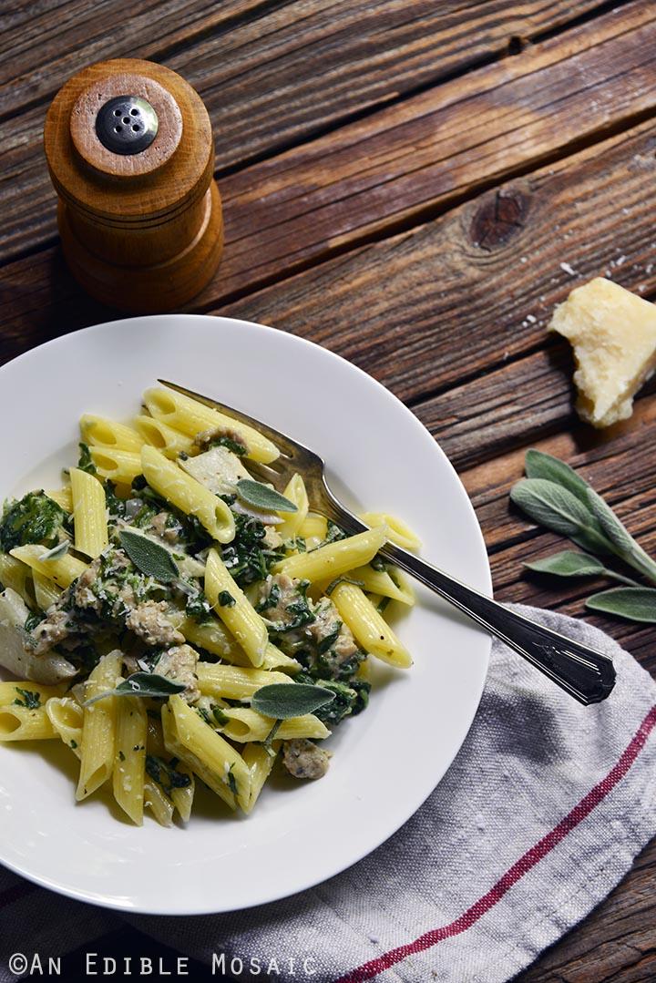 gluten-free-penne-pasta-with-chicken-sausage-sage-and-apple-cream-sauce-4