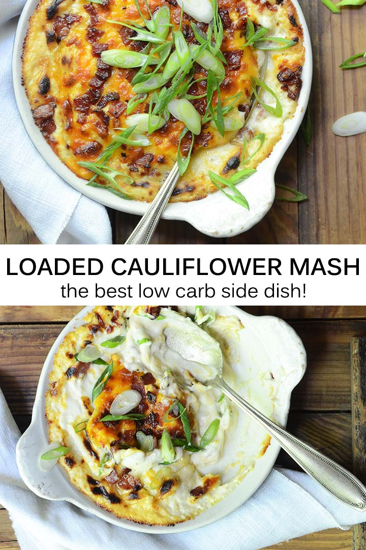 Loaded Cauliflower Mash Pin