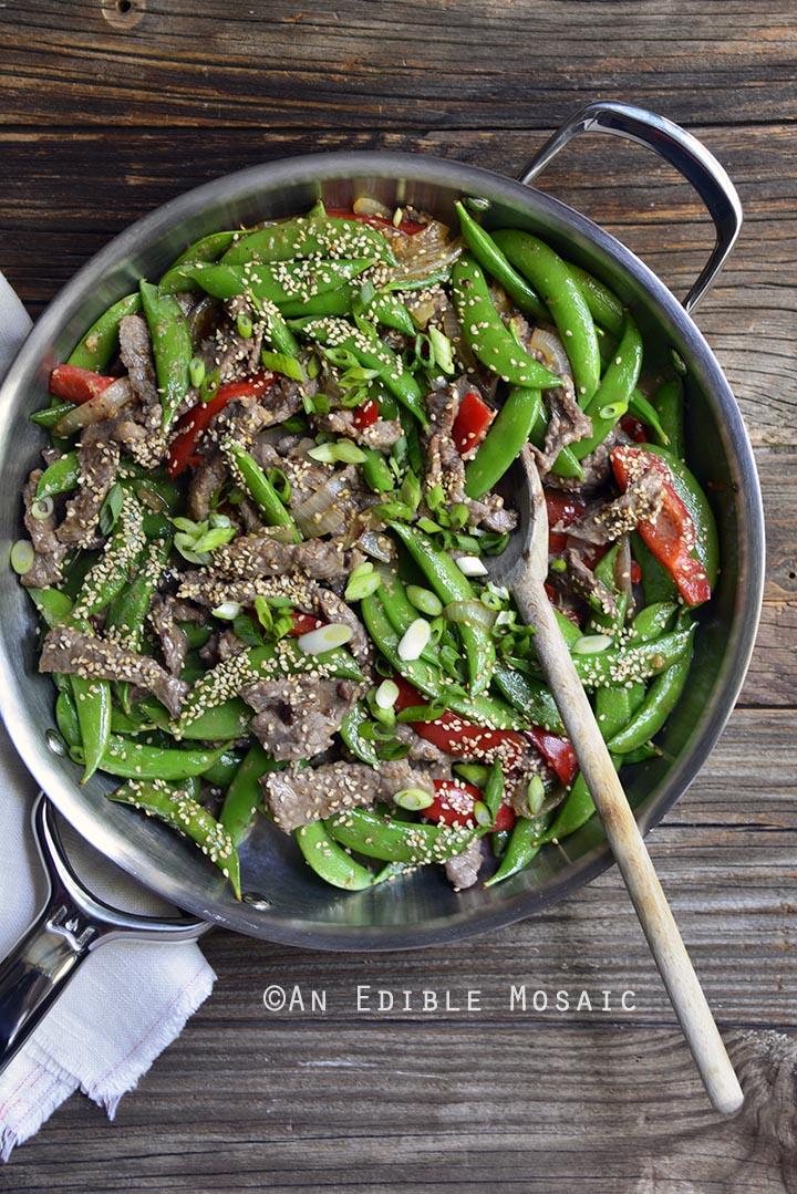 30-minute-sesame-beef-and-snap-pea-stir-fry-skillet-supper-paleo-1