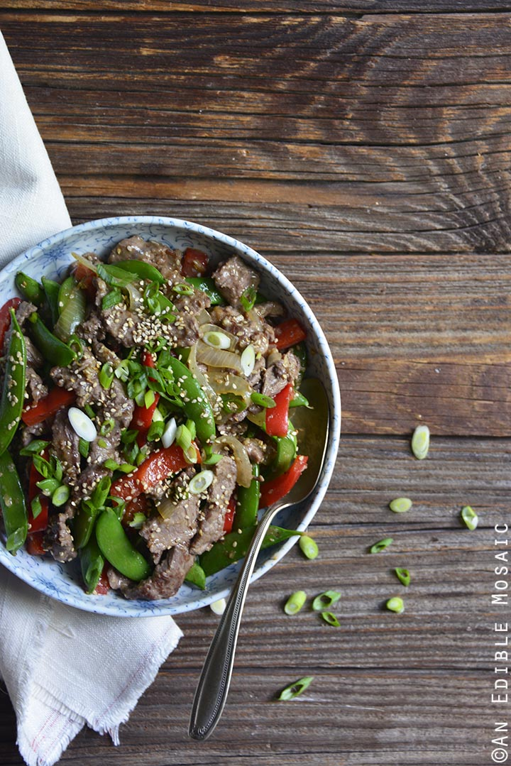 30-minute-sesame-beef-and-snap-pea-stir-fry-skillet-supper-paleo-2