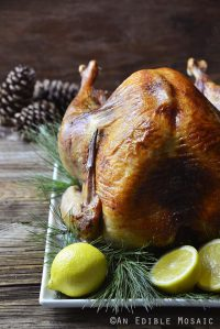 Apple Rosemary Brined Roast Turkey