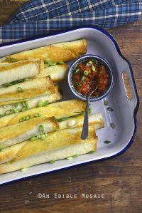Easy Vegetarian Baked Taquitos {Lactose-Free}