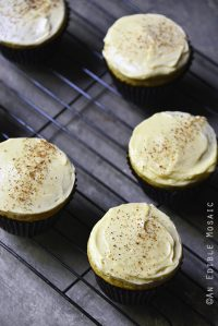 Paleo Eggnog Cupcakes with Maple Buttercream