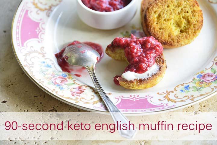90 Second Keto English Muffin Recipe with Description