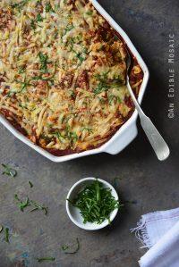 Easy 5-Ingredient Chicken Parmesan Quinoa Casserole {Gluten-Free; Lactose-Free}