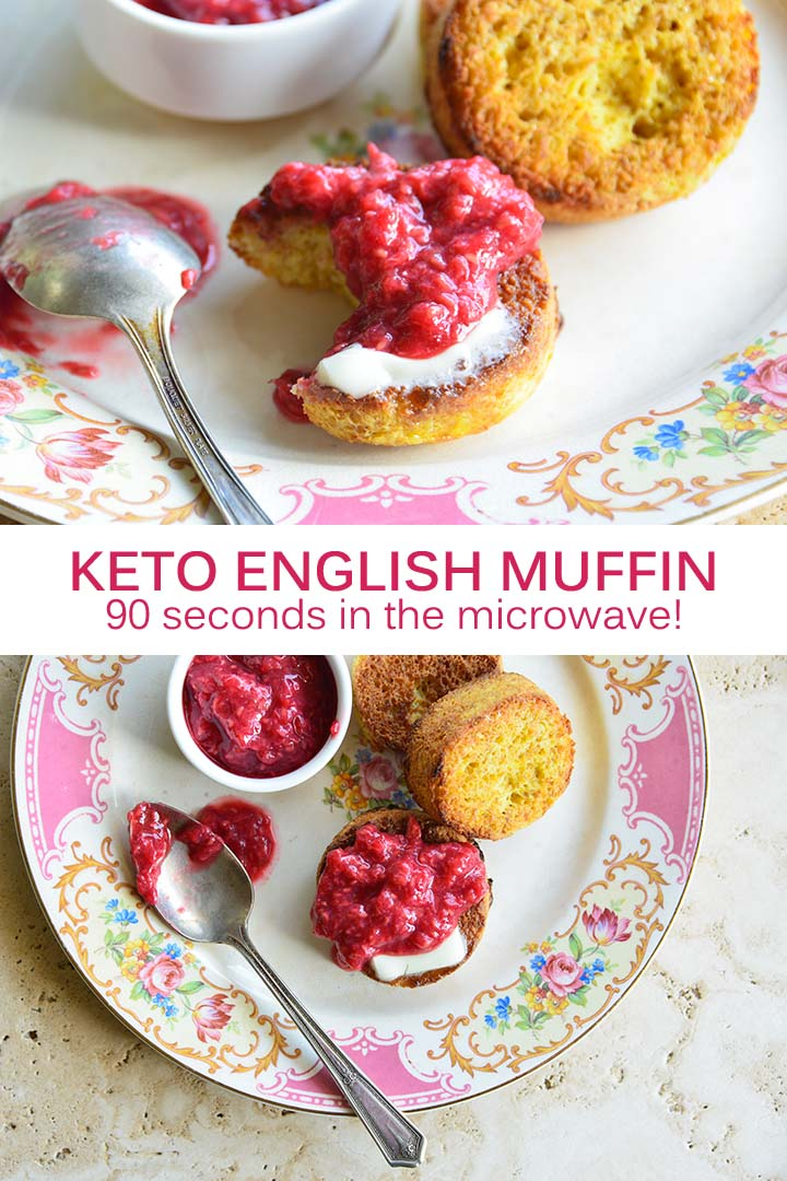 Keto English Muffin Recipe Pin