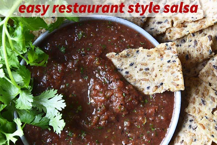 Restaurant Style Salsa with Description