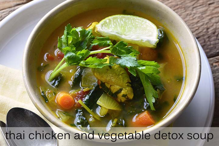 Thai Chicken and Vegetable Detox Soup with Description