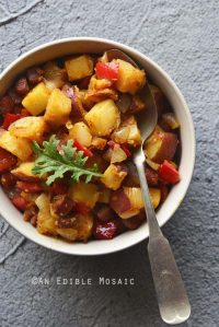 Andouille Sausage, Bell Pepper, and Red Potato Hash {Gluten-Free}