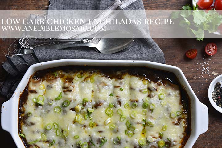 Low Carb Chicken Enchiladas Recipe with Description