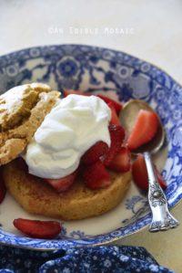 Gluten Free Strawberry Shortcake Recipe Close Up
