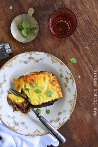 Lower-Carb Beef Eggplant Moussaka Casserole {Gluten-Free}